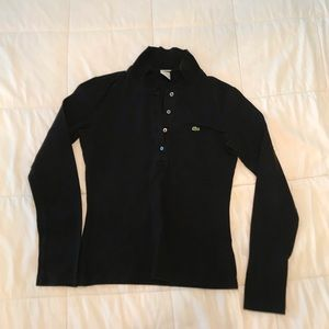 Long sleeve collared Lacoste shirt
